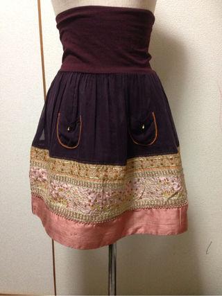 フランシュリッペビーズ 刺繍スカート