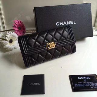 美品 シャネル CHANEL レディース 2つ折長財布 2色