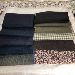 着物?はぎれ 古布 ハンドメイド素材 まとめ売り ウール絹?