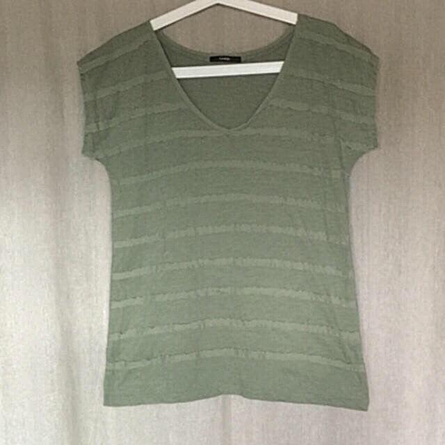 George大きいサイズ モスグリーン デザインTシャツ - フリマアプリ&サイトShoppies[ショッピーズ]