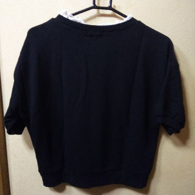 INGNI新品衿レース付半袖トレーナー/M