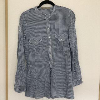 ZARA BASIC ストライプシャツ(難あり)