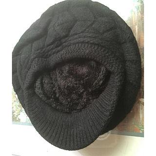 v6 矢印柄ふかふか帽子