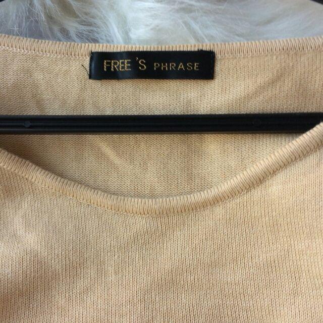 美品!FREESPHRASE日本製七分袖×薄手ニット