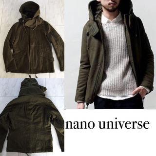 nano universe メルトンショートモッズコート