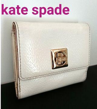 正規 ケイトスペード レザー 財布 オフホワイト 白