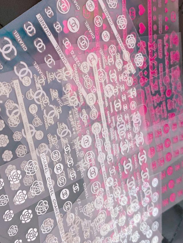 ブランドロゴ ネイルシール 5枚 ランダムセット