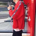 最安値ピエロジャケットMA-1韓国ストリート系 黒/赤