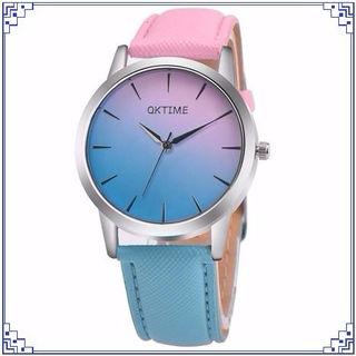 ゆめかわ時計 ピンク×水色