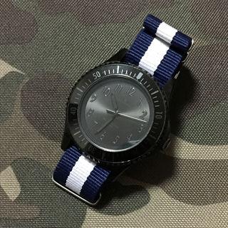 ナノユニバース ブラックダイバーズウォッチ 腕時計