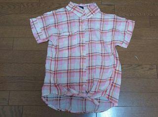 チェックシャツ(半袖)