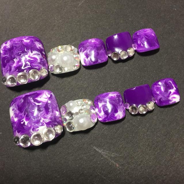 紫 マーブル