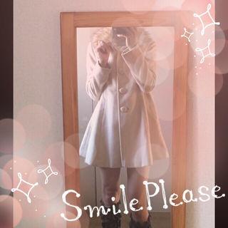 ピンクミックスのファー付き美ラインコート!