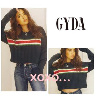新品 GYDA ラインショート ニットトップス