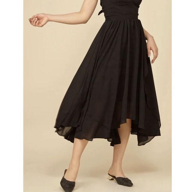 ROYAL PARTY カラーフレアロングスカート