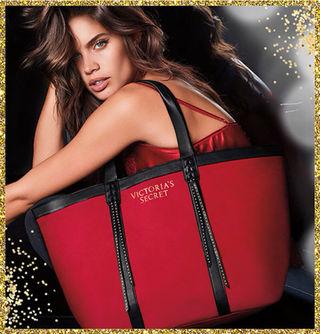 ヴィクトリアシークレット クリスマス赤色 ショルダーバッグ