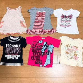半袖100cm6点セット/まとめ売り/半袖Tシャツ&ワンピ