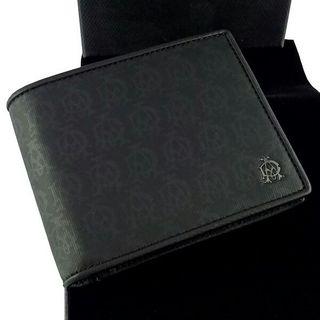 ダンヒル 二つ折り財布  ダークグレー 小銭入有