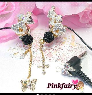 Pink fairy*ゴージャス*デコイヤホン