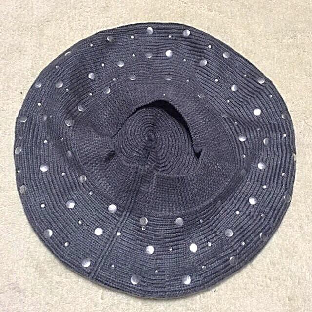 新品スタッズとビジュー付きベレー帽