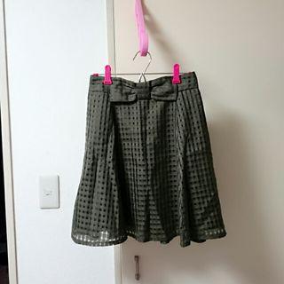 美品 しまむら リボン スカート