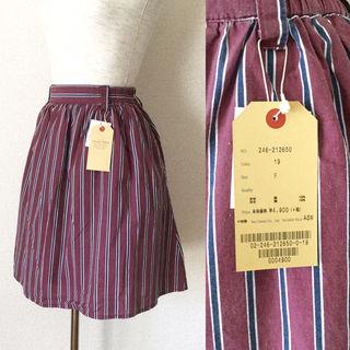 【定価5,292円】新品ダブルネーム ストライプスカート