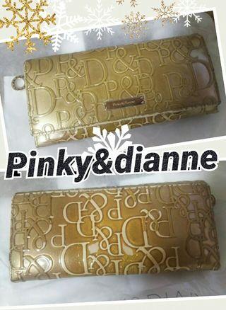 Pinky&dianne長財布 ラメ入りブラウン送料無料