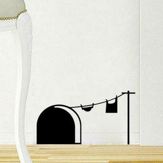 楽しい♪ ◆ジェリーハウス◆ ウォールステッカー 2枚組