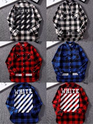 OFF WHITEお店のお勧め特別バージョンシャツ男女兼用