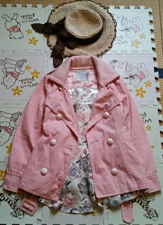 ピンク トレンチコート コート バレンタインハイ