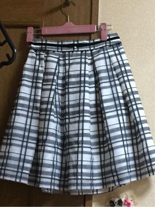 チェック柄おりぼんスカート