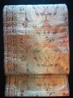 金箔鳳凰袋ナゴヤ 正絹中古美品レタパP