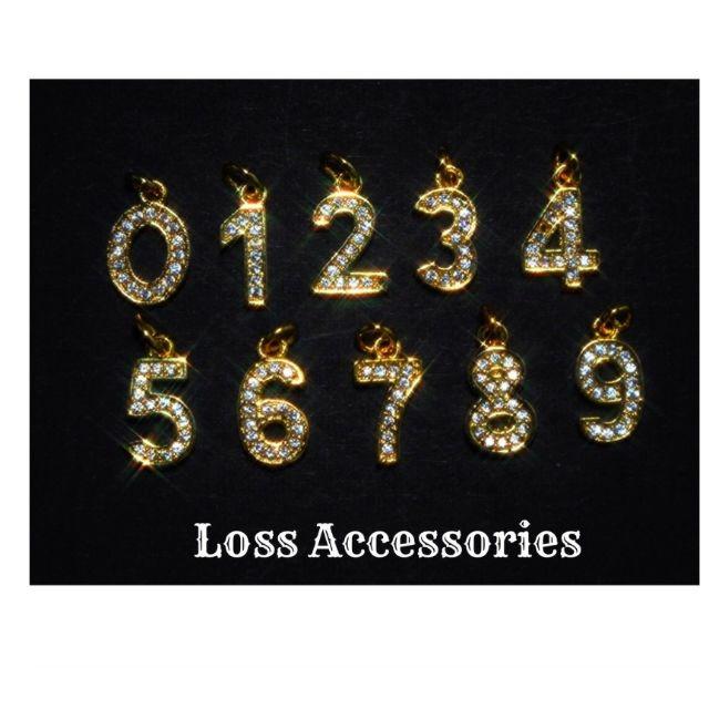【高級】金色ナンバーアンクレット ネックレス リング b70