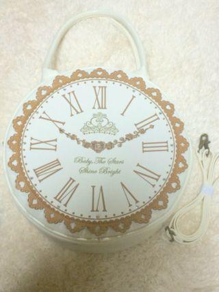 BABY アリスの大きな時計BAG