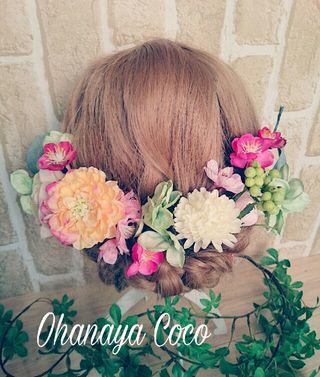 春色funwari桜と紫陽花の髪飾り15点Set No109