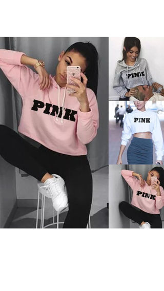 3色pinkロゴパーカー