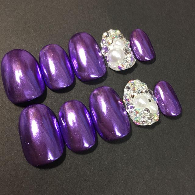 ミラーネイル パープル 紫