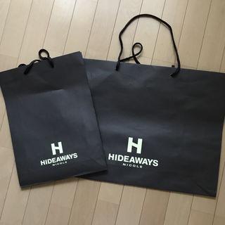 HIDEAWAY ショップ袋