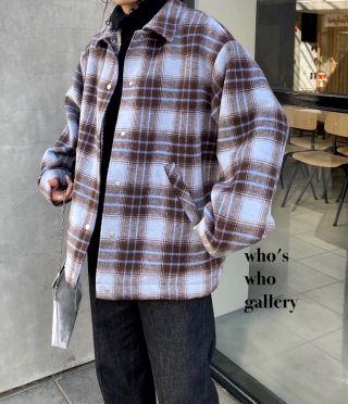 新品who's who gallery チェックコーチJK