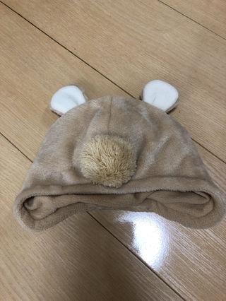くまさんあったか帽子新品BABY