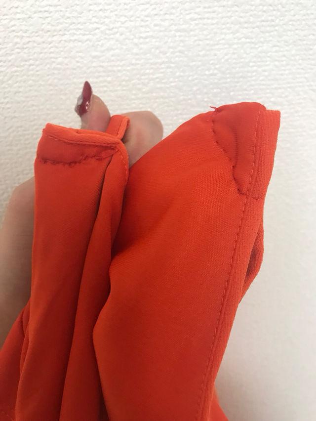 H&M オレンジ ミディアムドレスワンピ