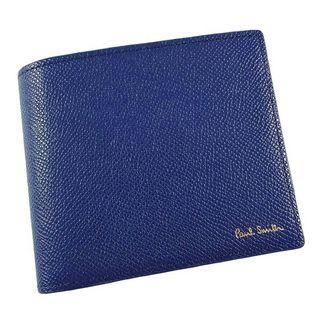 ポールスミス 二つ折り財布 青 カラーフラッシュ