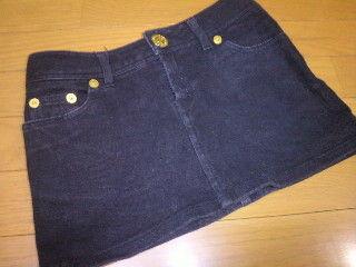 SHELL RAY * ミニスカート (黒×金ボタン)