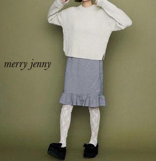 新品 merry jenny ギンガムチェックスカート