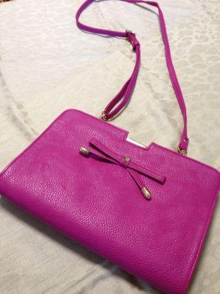 【美品】ピンク ショルダーバッグ クラッチバッグ