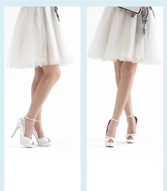 高級感 結婚式 二次会 パーティー婦人靴スエード リボン