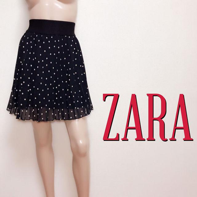 爆かわザラ ドットプリーツ フレアスカート(ZARA(ザラ) ) - フリマアプリ&サイトShoppies[ショッピーズ]