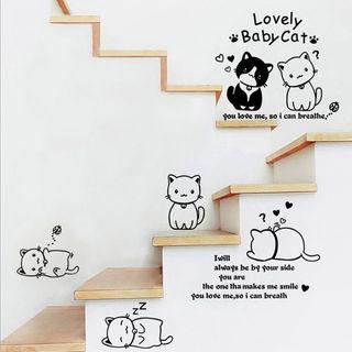 楽しい♪ ◆6匹のネコたち◆ ウォールステッカー セット