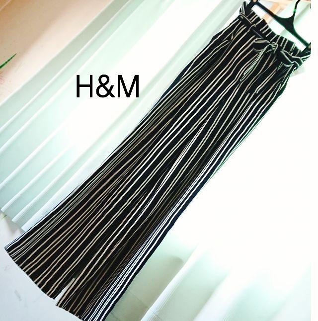 H&Mワイドパンツ(H&M(エイチアンドエム) ) - フリマアプリ&サイトShoppies[ショッピーズ]