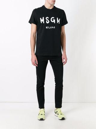 MSGM(エムエスジーエム)ロゴプリント半袖Tシャツ